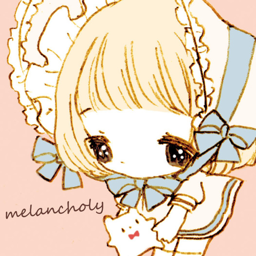 melancholy缶バッジ(ピンク)
