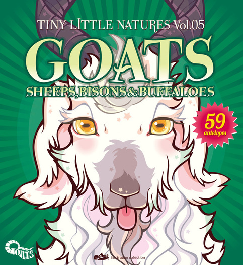 "Tiny Little Natures vol.5 ""GOATS"" SHEEPS,BISONS & BUFFALOES"