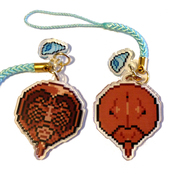 Horseshoe Crab Double Sided Acrylic Charm - Blue Shell