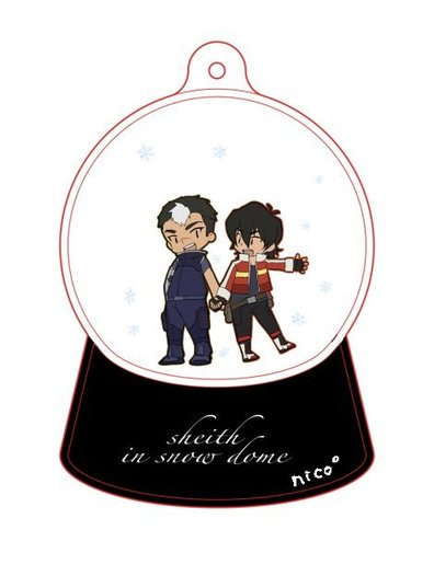 Sheith in snow globe
