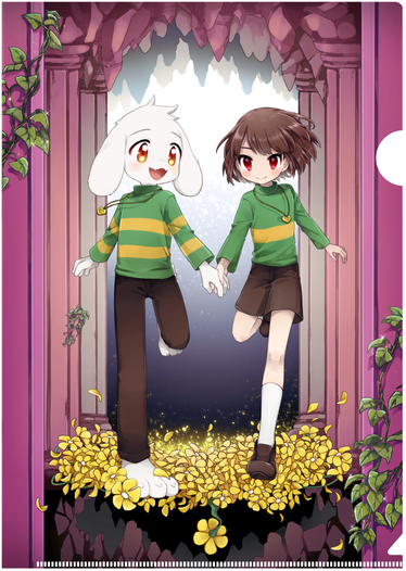 Chara+Asriel/A4クリアファイル+A5カードセット