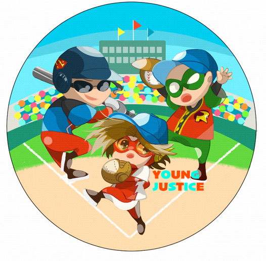 YJ Baseball button