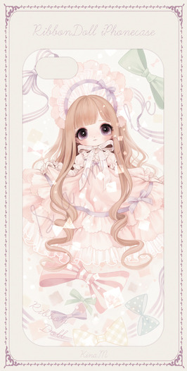 Ribbon doll iPhoneケース