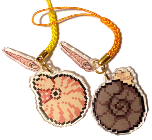 Nautilus/Ammonite Double Sided Acrylic Charm - Orthocone