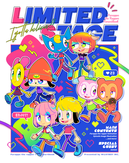 LIMITED STAGE - PARAPPA THE RAPPER FANARTBOOK -