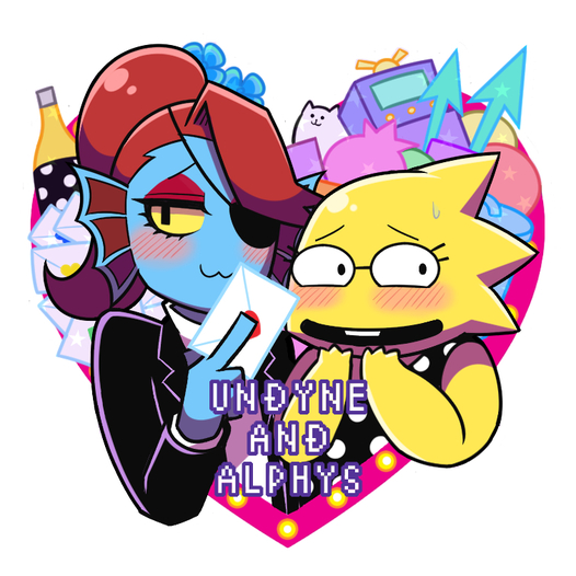 UNDYNE AND ALPHYS アクリルキーホルダー