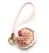 Grub Larva Single-Sided Charm
